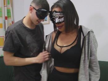 Estrella y Victor jovencitos y se estrena en el porno con un anal.