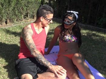 La fantasia de Caramelo grabar porno con Mike Vegas, menos mal que mi novio no ve porno!