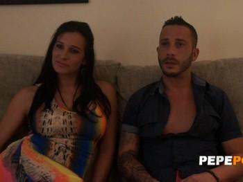 Sandra y Dani, una pareja liberal que le encanta que se la follen por detrás!!!